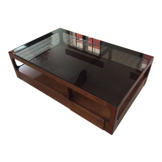 Vintage used brown coffee tables chairish for Coffee tables under 30