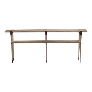 Gray & Bronze Plank Console Table