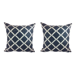 "LuLu Dk Designs by Duralee ""Gaston"" in Lapis Pillows - a Pair"