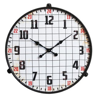 Large Industrial Style Wall Clock