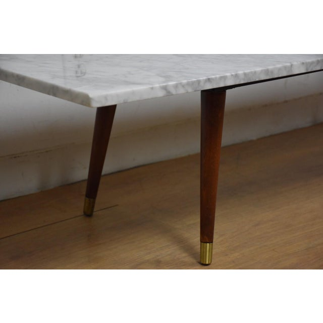 Mid Century Modern Marble Table: Mid-Century Modern Italian Marble Coffee Table