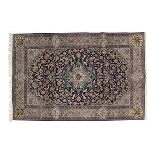 "Leon Banilivi Navy Persian Isphahan Carpet - 6'7"" X 10'"