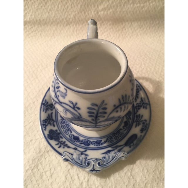 Villeroy & Boch Blue & White Cup & Saucer - A Pair - Image 5 of 7