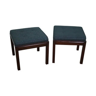 Mid Century Modern Solid Mahogany Benches - Pair