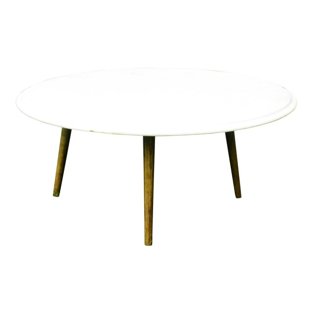 Vintage Mid Century Modern Round White Marble Coffee Table Chairish