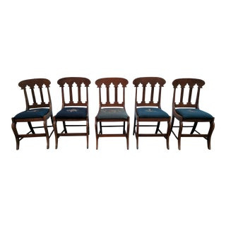 Antique Hepplewhite Style Mahogany Side Chairs - Set of 5