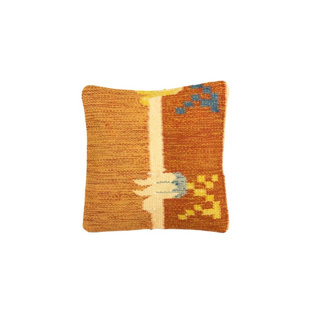 Ancient Motif Tribal Styled Tulip Pillow - Image 3 of 4