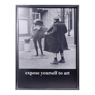 "Mike Ryerson ""Expose Yourself to Art"" Vintage Poster"