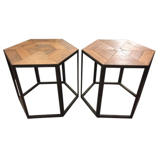 Restoration Hardware End Tables - A Pair