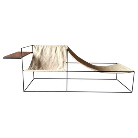 Image of Modern Wrought Iron Chair Lounger