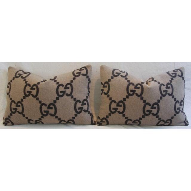 Gucci Cashmere & Velvet Pillows - Pair - Image 3 of 11