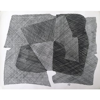 Pen & Ink Abstract Drawing by Roger Stokes