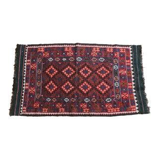 """Vintage Kilim Carpet Afghan Rug - 3' x 5'5"""""""