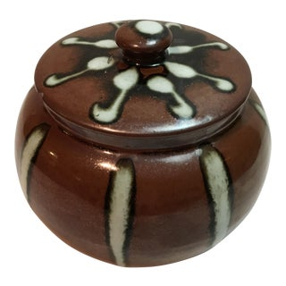 Vintage Lidded Ceramic Jar