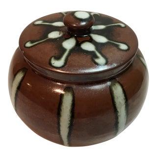 Vintage Lidded Ceramic Jar