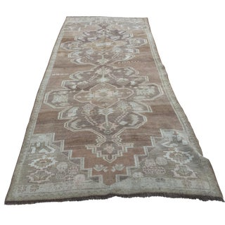 "Vintage Turkish Oushak Runner - 4'5"" x 11'6"""
