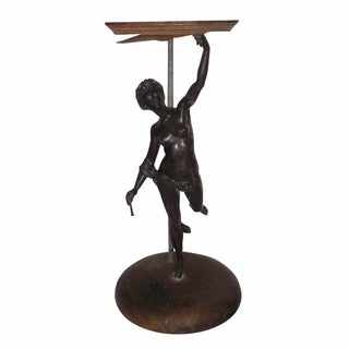 Art Deco Bronze Female Statuette