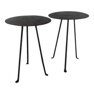 Tiny Custom Iron and Bronze Tripod Tables
