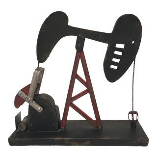Vintage Style Oil Well Pump Sculpture
