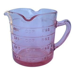 Vintage Pink Depression Glass Measuring Cup