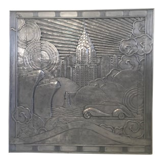 Art Deco New York City Transportation Relief Panel