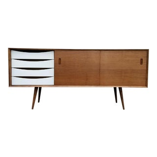 Multi Drawer Walnut Credenza