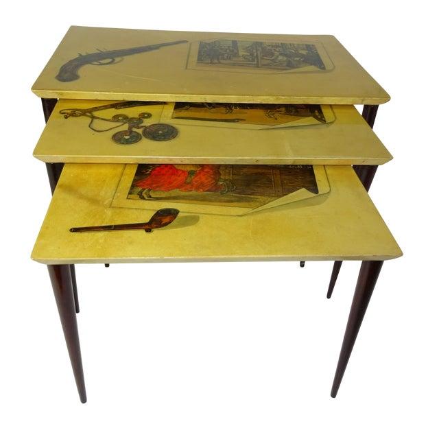 Aldo Tura Parchment Gigogne Tables - Set of 3 - Image 1 of 8