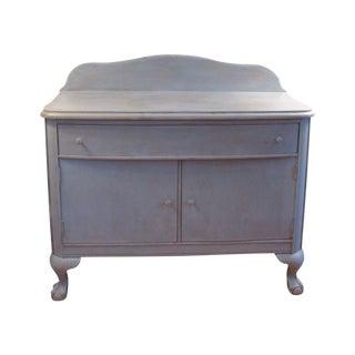 Vintage Custom Painted Oak Washstand