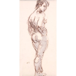 """""""Striking a Pose"""" Charcoal Nude"""