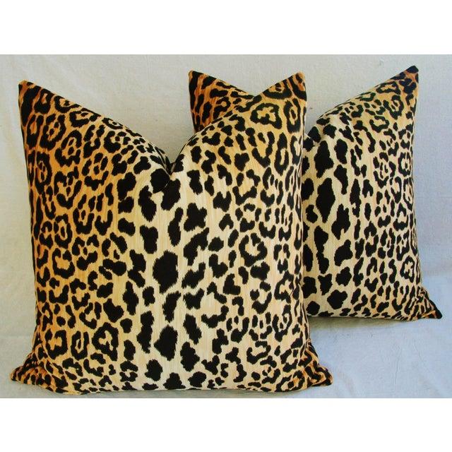 """Image of Large 26"""" Safari Leopard Velvet Pillows - Pair"""