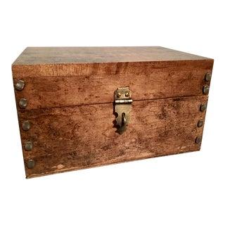 Rustic Maple Keepsake Box