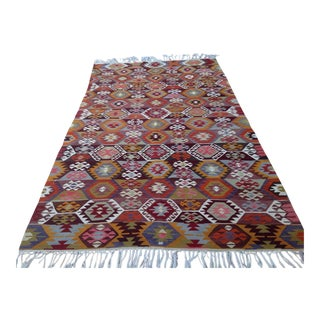 Vintage Turkish Kilim Rug - 5′8″ × 10′2″
