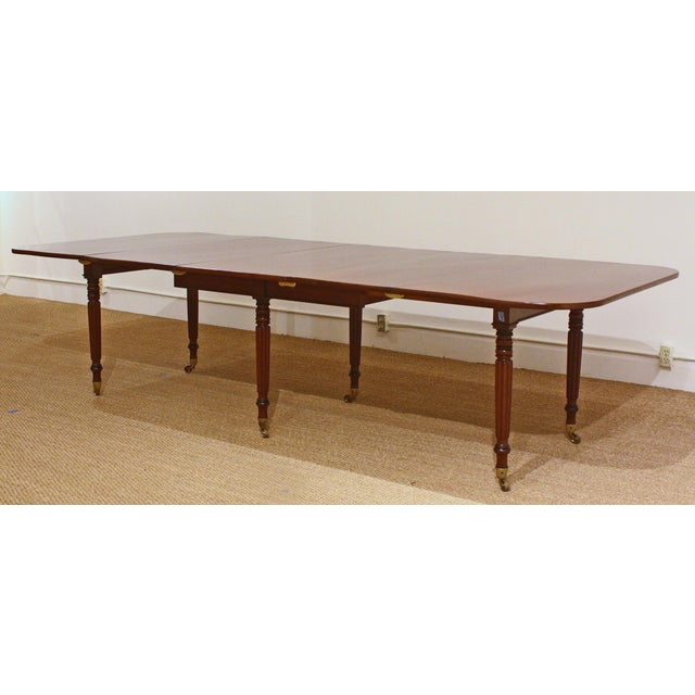 ENGLISH REGENCY DINING TABLE IN THE MANNER OF GILLOWS - Image 3 of 8