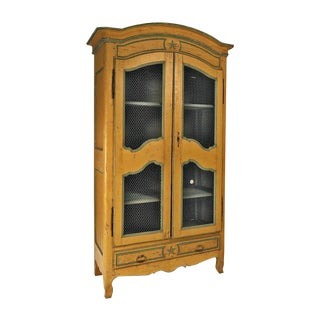 Italian Painted Armoire / Bookcase