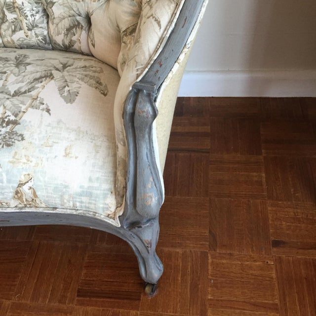 Victorian Reupholstered & Restored Walnut Settee - Image 5 of 8