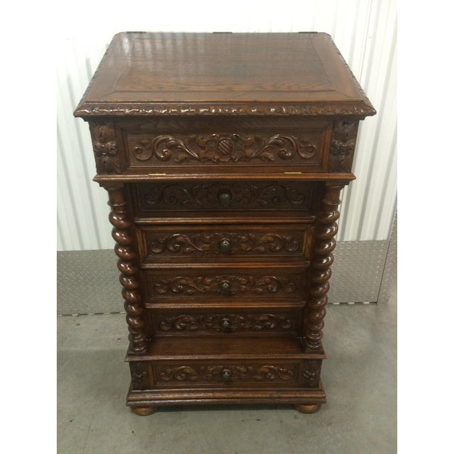 Hand-Carved Barley Twist Spindle Cabinet - Image 2 of 9