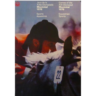1976 Montreal Olympic Equestrian Poster