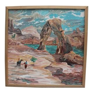 Vintage John M. Harper Abstract Painting