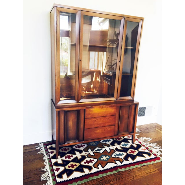 Vintage Mid Century Walnut Hutch - Image 3 of 10