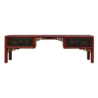 Vintage Chinese Gold Accented Red & Black Altar Display Stand