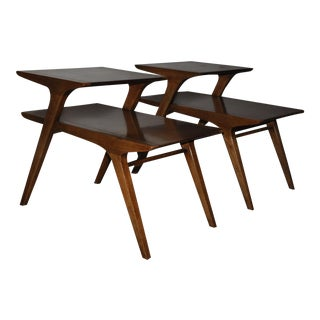 Mid-Century Drexel Profile Step Tables - A PAir