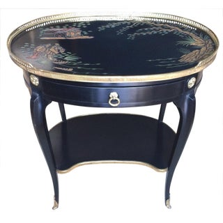 French Chinoiserie Antique Side Table