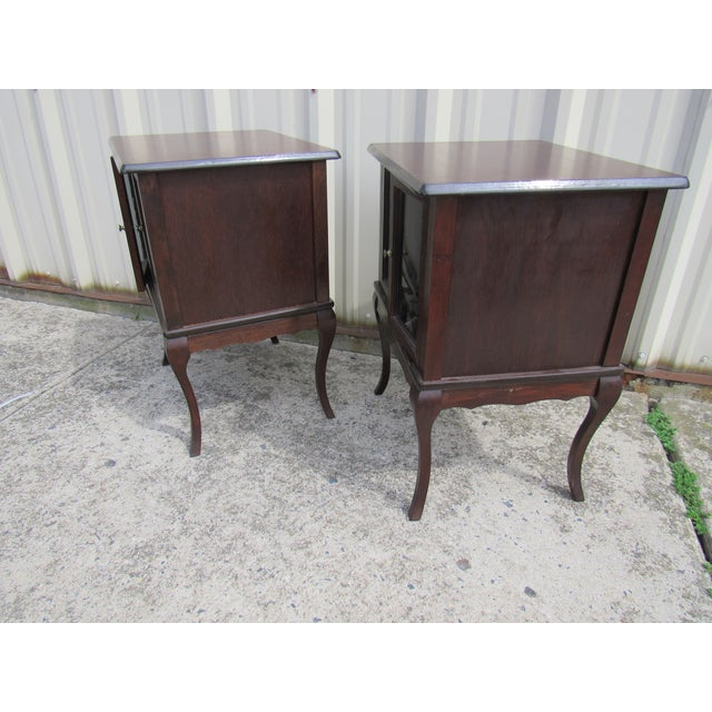 French Provincial Apartment Nightstands - Pair - Image 4 of 7