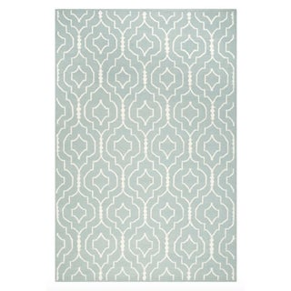 Light Blue Dhurrie Rug - 6' x 9'