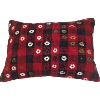 Vintage Red Turkish Kilim Pillow