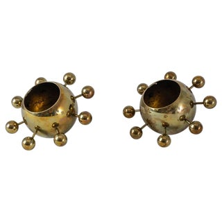 Torben Orskov Pair of Model 156 Brass Candelabra, Denmark