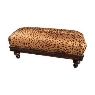 Leopard Hide Ottoman