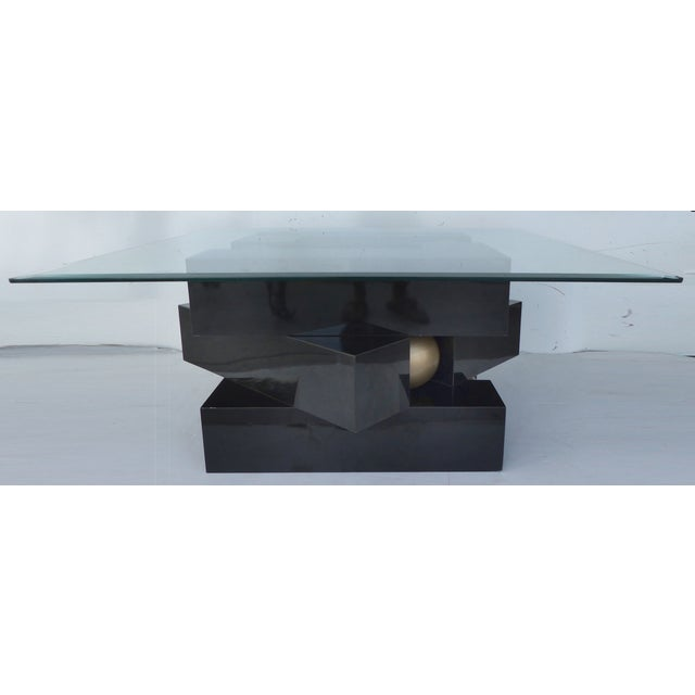 Image of Vintage 1980s Black Stacking Coffee Table