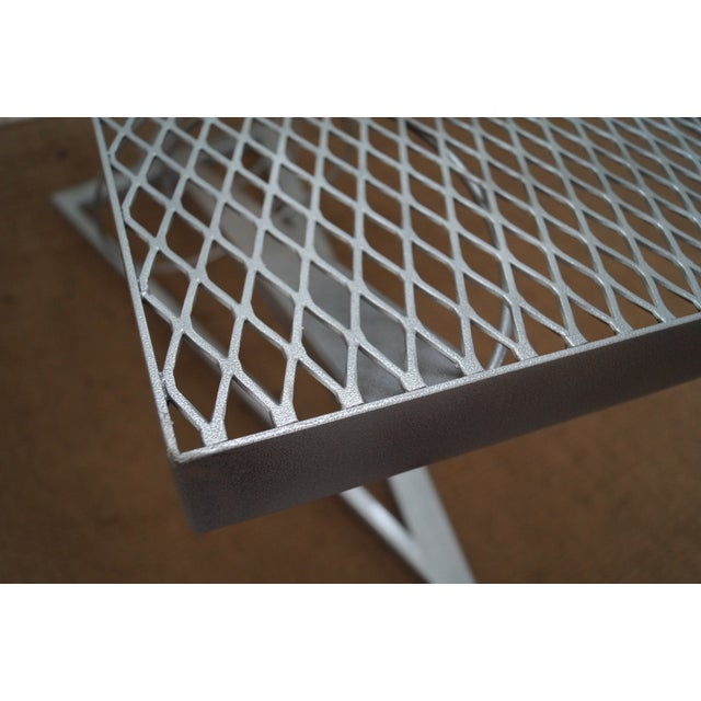 Contemporary Expanded Metal Coffee Table - Image 5 of 10