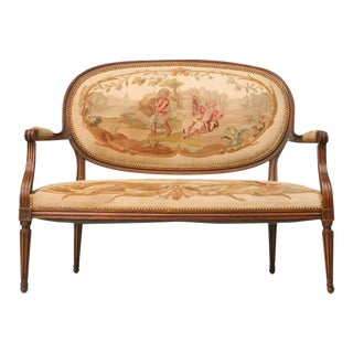Louis XVI Aubusson Upholstered Settee